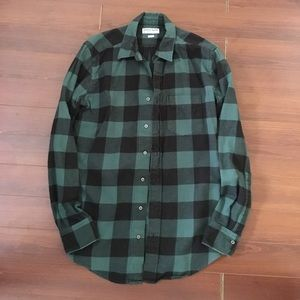 AMERICAN APPAREL 🌿 GREEN PLAID